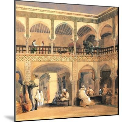 Bazaar in Orleans, 1840S-Th?odore Chass?riau-Mounted Giclee Print