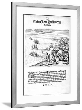 Invasion by Vice Admiral Sebold, 1606-Theodore de Bry-Framed Giclee Print