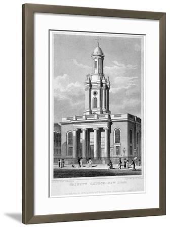 Trinity Church, Euston Road, St Pancras, London, 1828-Thomas Hosmer Shepherd-Framed Giclee Print