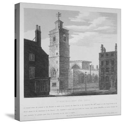 Church of St Bartholomew-The-Less, City of London, 1814-S Jenkins-Stretched Canvas Print