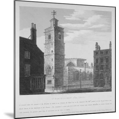 Church of St Bartholomew-The-Less, City of London, 1814-S Jenkins-Mounted Giclee Print