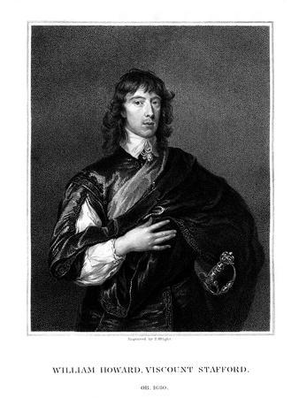 William Howard, 1st Viscount Stafford, Roman Catholic Martyr-T Wright-Framed Giclee Print