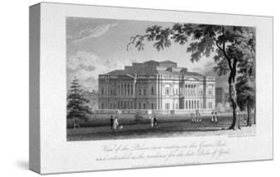 York House and Green Park, Westminster, London, C1800-Samuel Rawle-Stretched Canvas Print