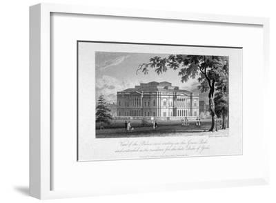 York House and Green Park, Westminster, London, C1800-Samuel Rawle-Framed Giclee Print