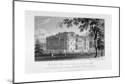 York House and Green Park, Westminster, London, C1800-Samuel Rawle-Mounted Giclee Print