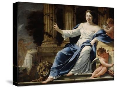 Polyhymnia, Muse of Eloquence, 17th Century-Simon Vouet-Stretched Canvas Print