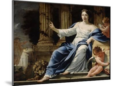 Polyhymnia, Muse of Eloquence, 17th Century-Simon Vouet-Mounted Giclee Print