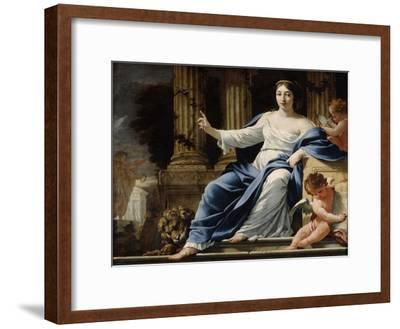 Polyhymnia, Muse of Eloquence, 17th Century-Simon Vouet-Framed Giclee Print