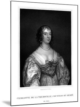 Charlotte Stanley, Countess of Derby-TA Dean-Mounted Giclee Print