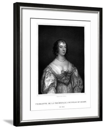Charlotte Stanley, Countess of Derby-TA Dean-Framed Giclee Print