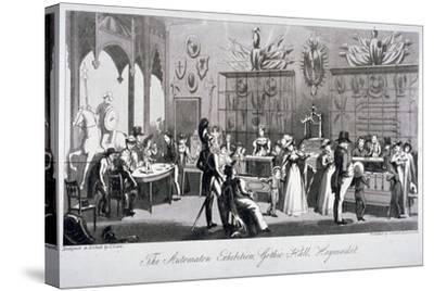 Interior View of the Automaton Exhibition in the Gothic Hall, Haymarket, London, 1826-Theodore Lane-Stretched Canvas Print