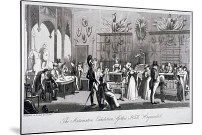 Interior View of the Automaton Exhibition in the Gothic Hall, Haymarket, London, 1826-Theodore Lane-Mounted Giclee Print