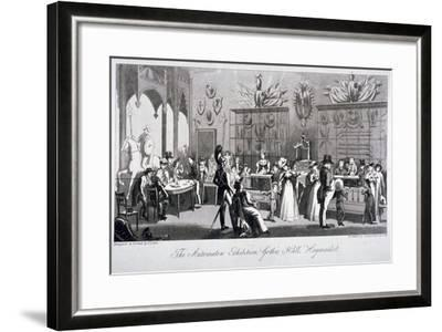 Interior View of the Automaton Exhibition in the Gothic Hall, Haymarket, London, 1826-Theodore Lane-Framed Giclee Print