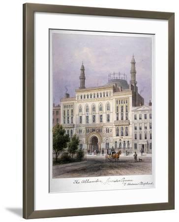 The Alhambra, Leicester Square, Westminster, London, C1858-Thomas Hosmer Shepherd-Framed Giclee Print