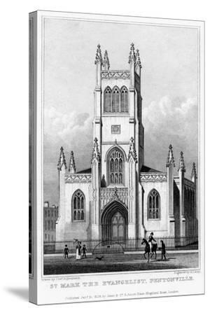 Church of St Mark the Evangelist, Pentonville, Islington, London, 1828-S Lacey-Stretched Canvas Print
