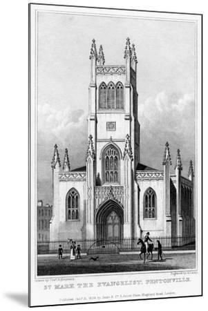 Church of St Mark the Evangelist, Pentonville, Islington, London, 1828-S Lacey-Mounted Giclee Print