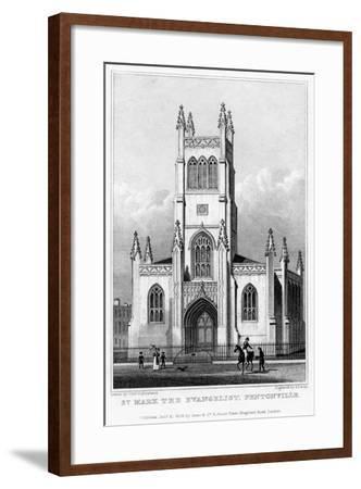 Church of St Mark the Evangelist, Pentonville, Islington, London, 1828-S Lacey-Framed Giclee Print