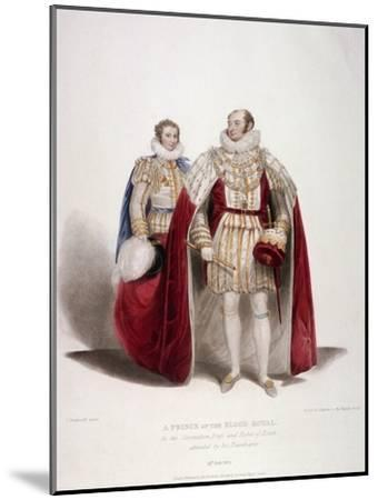 Frederick Augustus, Duke of York in the Coronation Dress and Robes of Estate, 1824-Samuel William Reynolds-Mounted Giclee Print