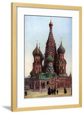 Cathedral of St Basil, Moscow, Russia, C1930S-SJ Beckett-Framed Giclee Print