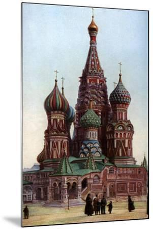 Cathedral of St Basil, Moscow, Russia, C1930S-SJ Beckett-Mounted Giclee Print