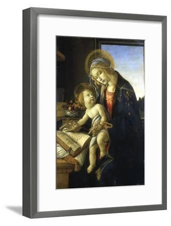 Madonna and Child (Madonna of the Book), 1483-Sandro Botticelli-Framed Giclee Print