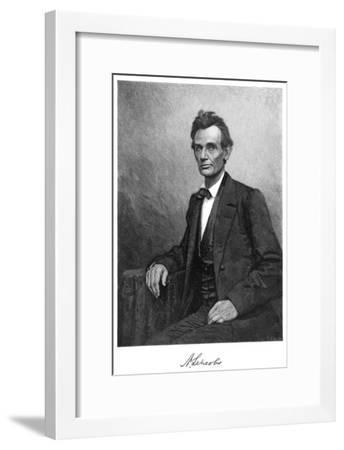 Abraham Lincoln (1809-186), US President, 1860-T Cole-Framed Giclee Print