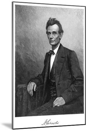 Abraham Lincoln (1809-186), US President, 1860-T Cole-Mounted Giclee Print