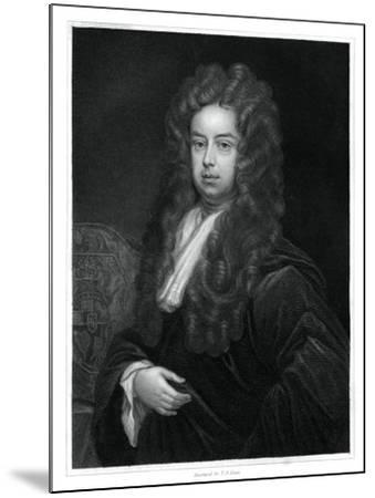 John Somers, 1st Baron Somers, Lord High Chancellor of England-TA Dean-Mounted Giclee Print
