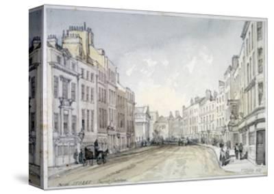 Bow Street, Westminster, London, 1851-Thomas Colman Dibdin-Stretched Canvas Print
