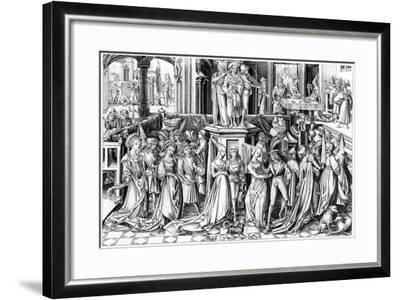 The Feast of Salomé, C1490s- Rosotte-Framed Giclee Print