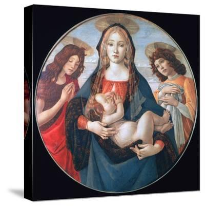 The Virgin and Child with Saint John and an Angel, C1490-Sandro Botticelli-Stretched Canvas Print