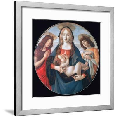 The Virgin and Child with Saint John and an Angel, C1490-Sandro Botticelli-Framed Giclee Print