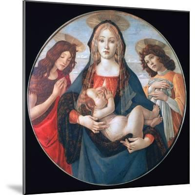 The Virgin and Child with Saint John and an Angel, C1490-Sandro Botticelli-Mounted Giclee Print