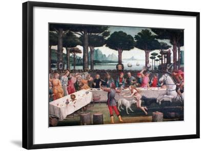 The Banquet in the Pine Forest, 1482-1483-Sandro Botticelli-Framed Giclee Print
