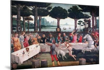 The Banquet in the Pine Forest, 1482-1483-Sandro Botticelli-Mounted Giclee Print