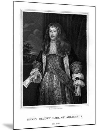 Henry Bennet, 1st Earl of Arlington, English Statesman-TA Dean-Mounted Giclee Print