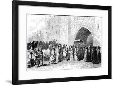 The Meeting of Henry VIII and Anne Boleyn, 1520s-Tony Johannot-Framed Giclee Print