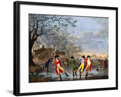 Winter Amusement: a View in Hyde Park from the Moated House, Late 18th Century- Tookey-Framed Giclee Print