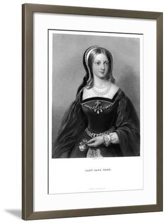 Lady Jane Grey (1537-155), 19th Century-W Holl-Framed Giclee Print