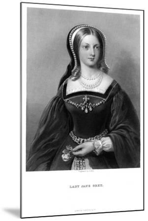 Lady Jane Grey (1537-155), 19th Century-W Holl-Mounted Giclee Print