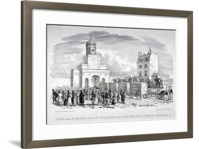 East India Docks, London, C1825-Vear-Framed Giclee Print