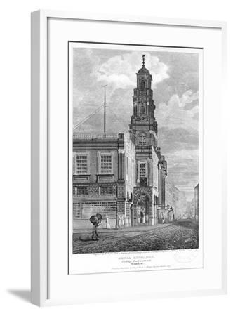 Royal Exchange, Looking South-West, City of London, 1809-W Angus-Framed Giclee Print