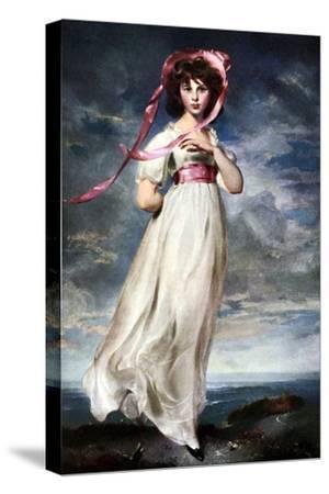 Sarah Barrett Moulin (Pinkie), 1794-Thomas Lawrence-Stretched Canvas Print