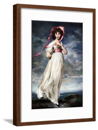 Sarah Barrett Moulin (Pinkie), 1794-Thomas Lawrence-Framed Giclee Print