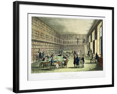 Library of the Royal Institution, Albermarle Street, London, 1808-1811-Thomas Rowlandson-Framed Giclee Print
