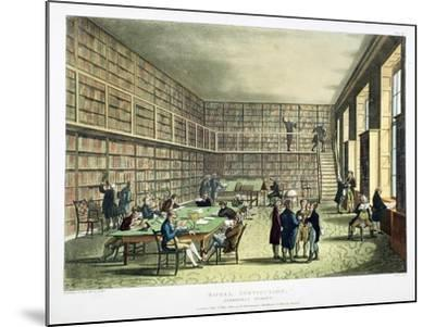 Library of the Royal Institution, Albermarle Street, London, 1808-1811-Thomas Rowlandson-Mounted Giclee Print