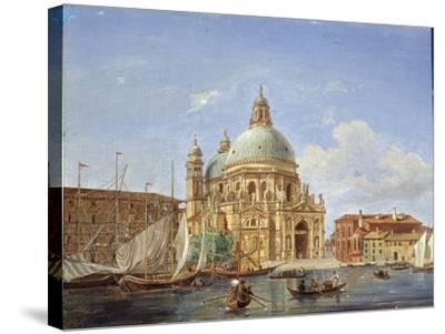 The Santa Maria Della Salute Church, 19th Century-Victor Adam-Stretched Canvas Print