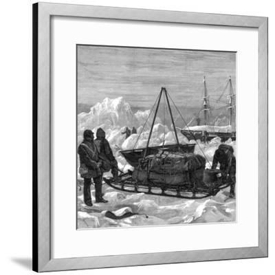 Preparing to Start on a Sledge Trip in the Arctic, 1875-W Palmer-Framed Giclee Print