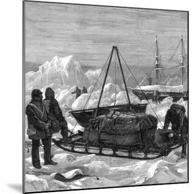 Preparing to Start on a Sledge Trip in the Arctic, 1875-W Palmer-Mounted Giclee Print