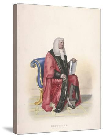 Recorder of the City of London, Sir John Silvester, in Civic Costume, 1825-Thomas Lord Busby-Stretched Canvas Print